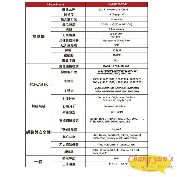 高雄/台南/屏東監視器 ICATCH可取套餐 IVR-0461UC-1 Ultra 4路NVR + IN-HB3201Z-P 網路攝影機*4