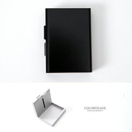 香菸盒 側掀式設計煙盒名片盒 個性金屬感雙面 貼身配件 密封防潮 柒彩年代【NL152】立體曲線感 - 限時優惠好康折扣