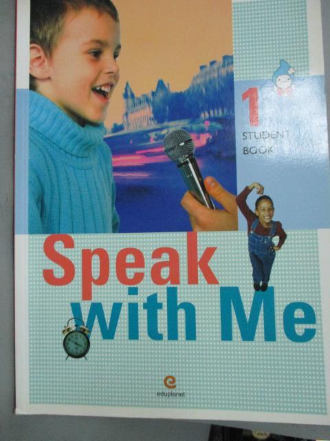 ~書寶 書T2/語言學習_YGV~SPEAK WITH ME. 1 STUDENT BOO