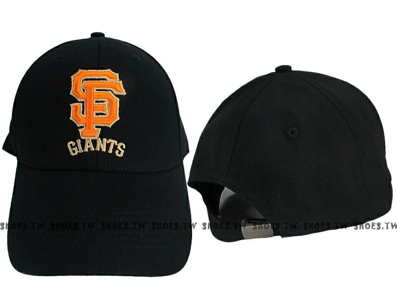 Shoestw【5732012-900】MLB 棒球帽 調整帽 老帽 巨人隊 黑 凸繡