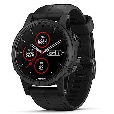 【免運】GARMIN fenix 5S Plus 複合式運動GPS音樂心率腕錶 贈日本SASAKI運動毛巾 1
