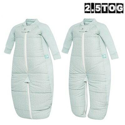 澳洲【ergopouch】2way 有機棉褲型防踢被-綠白葉 (2.5TOG 冬天專用) 0