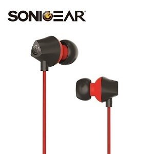 【SonicGear】NeoPlugTREON特麗虹入耳式耳機麥克風黑紅黑藍