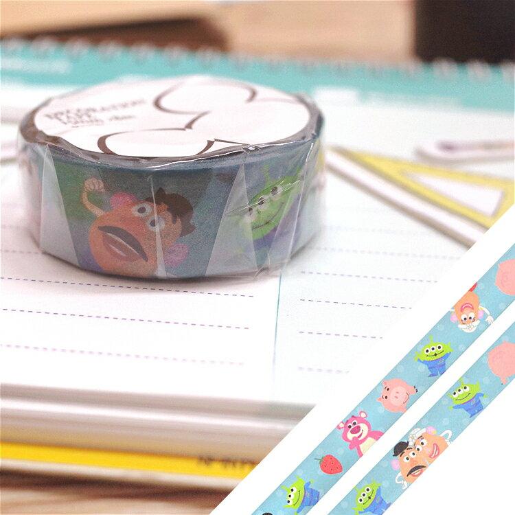 PGS7 日本迪士尼系列商品 - 迪士尼 玩具總動員 SOLO 紙膠帶 熊抱哥 蛋頭 三眼怪【SHD7983】