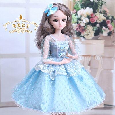 芭比娃娃 超大號60厘米嘿喽芭比洋娃娃大禮盒套裝冰雪公主兒童單個女孩玩具T【全館免運 限時鉅惠】