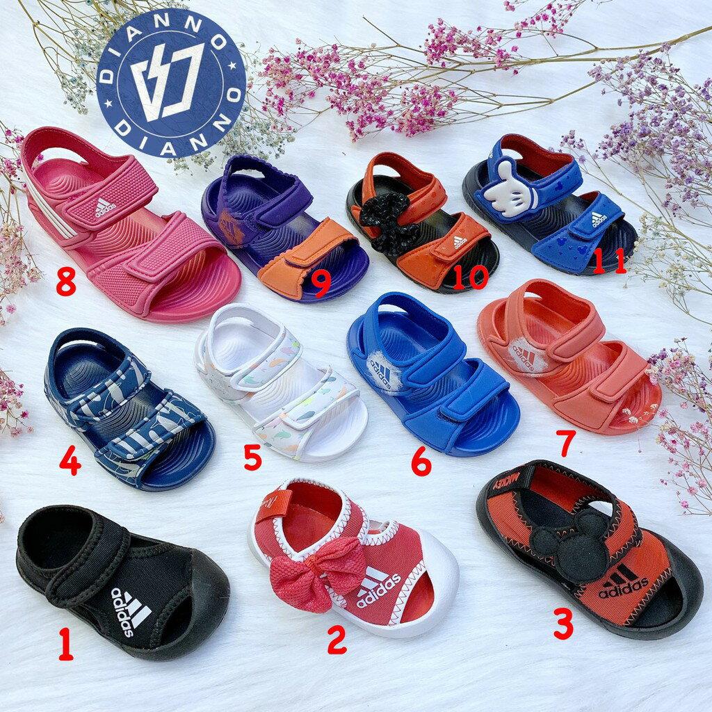 帝安諾-ADIDAS 愛迪達 迪士尼 米奇 米妮 中童 小童 涼鞋 拖鞋 護趾涼鞋 藍橘 紅 CQ0108 CQ0107