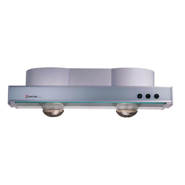[滿3千,10%點數回饋]櫻花SAKULA隱藏式玻璃煙板除油煙機R-3501GL【送標準安裝】【雅光電器】