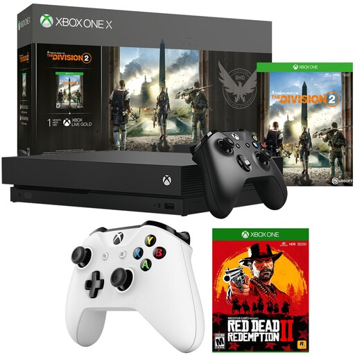 Microsoft Xbox One X 1 TB Console with The Division 2 + Controller Bundle