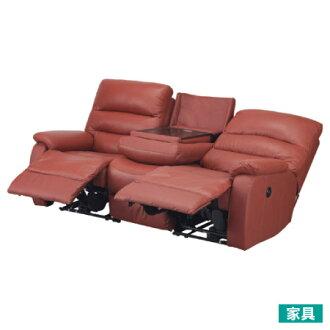 ◎全皮3人用頂級電動可躺沙發 BELIEVER2 RED