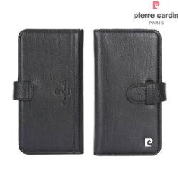 [ iPhone 8 / 7 ] Pierre Cardin法國皮爾卡登4.7吋多層卡袋真皮手機套/保護套/皮套 黑色