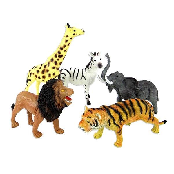 【888便利購】5入野生動物模型(中型)(硬偏軟材質)(安全塑料)(YS8006)