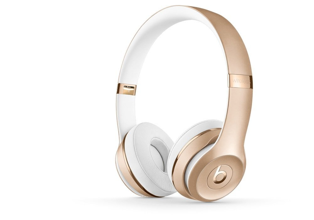 Beats by Dr. Dre Solo3 Wireless On-Ear Headphones Gold Stereo Mini phone Wired/Wireless Bluetooth Over-the-head Binaural Circumaural