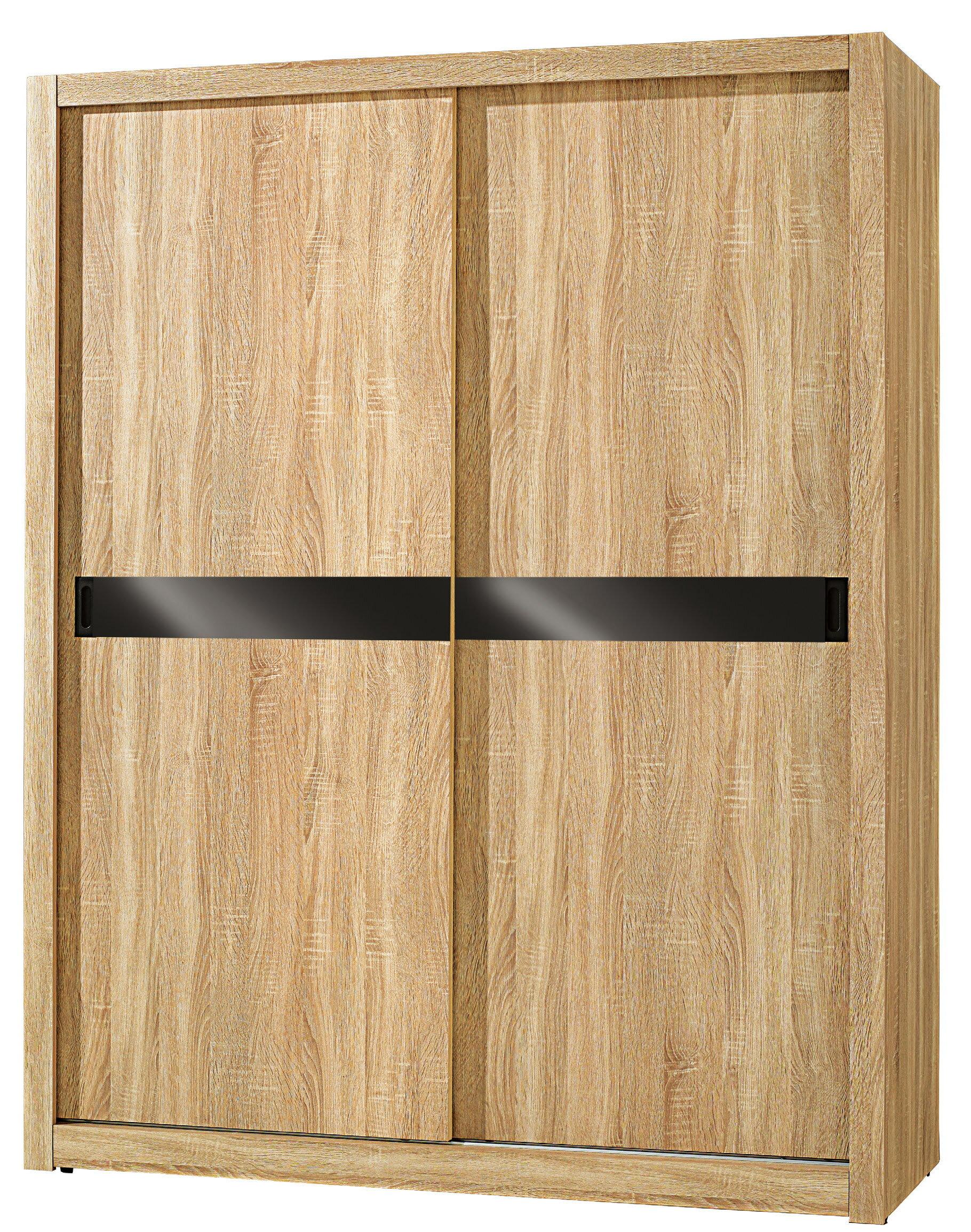 【尚品家具】JF-053-3 凱文5X7尺橡木紋推門衣櫃