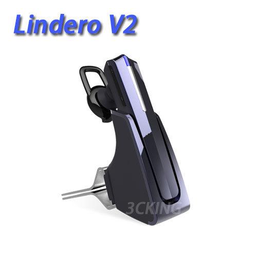 英國 Lindero V2 藍牙耳機 車用藍牙 1對2雙待機 A2DP 藍牙3.0 DSP降躁 座上待機3700H 公司貨-暗夜黑