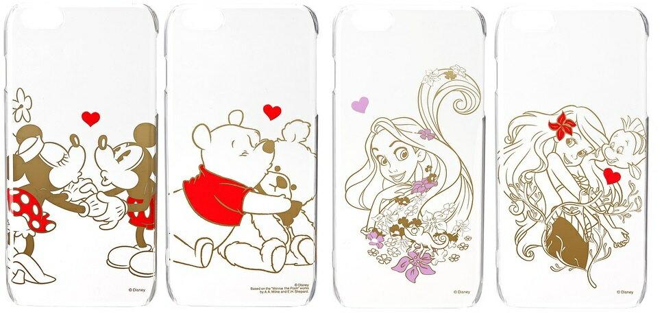 PGA 日本迪士尼授權 iPhone 6 PLUS 5.5吋 透明 箔印系列 保護殼 米奇 米妮小美人魚 維尼 長髮公主