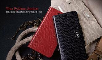 navjack APLLE iPhone 6 PLUS The Python Series 蛇皮 壓紋側掀 站立式保護套