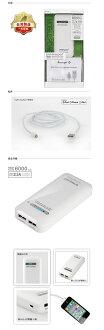enerpad 6000mAh + Lightning MFI認證線 國際牌電蕊 專利雙USB MIT 台灣製造 行動電源