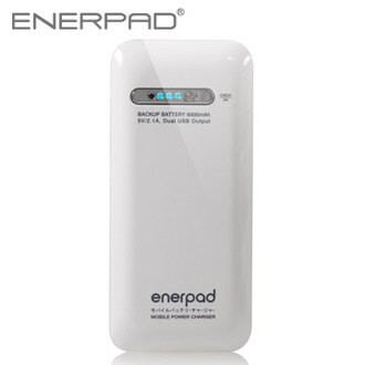 enerpad 6000mAh 國際牌電蕊 專利雙USB MIT 台灣製造 行動電源 ( 五色)