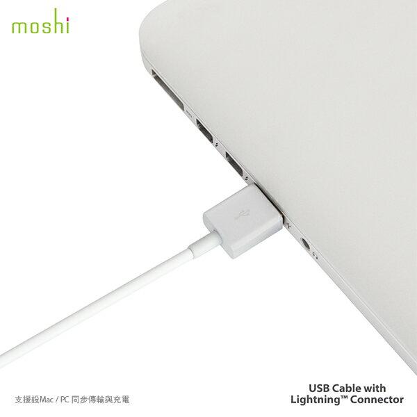 moshi MFi認證 超耐用 Lightning USB 一米 傳輸線 四款顏色 玫瑰金(兩年保固) 2