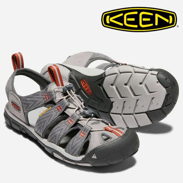 【Keen美國】CLEARWATERCNX越野護趾涼鞋運動涼鞋休閒涼鞋男款深灰橘/1018497