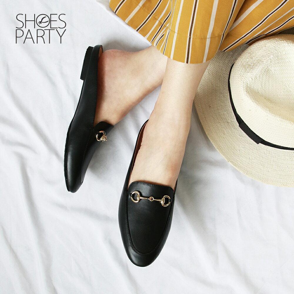 【S2-19519L】一套就走,真皮鍊條穆勒鞋_Shoes Party 1