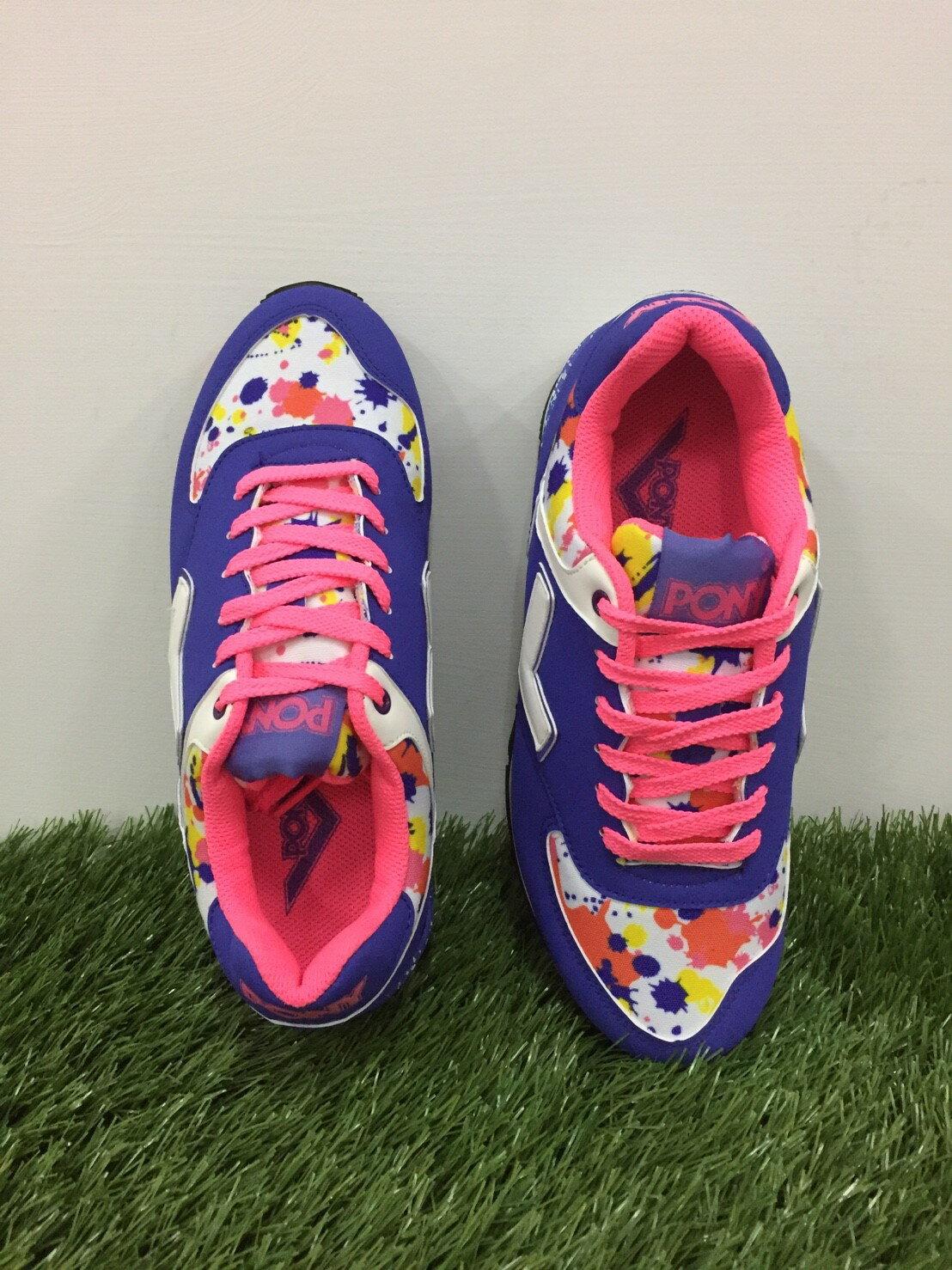 ★限時特價990元★ Shoestw【53W1SO73PP】PONY 復古慢跑鞋 內增高 紫粉色 女生 1