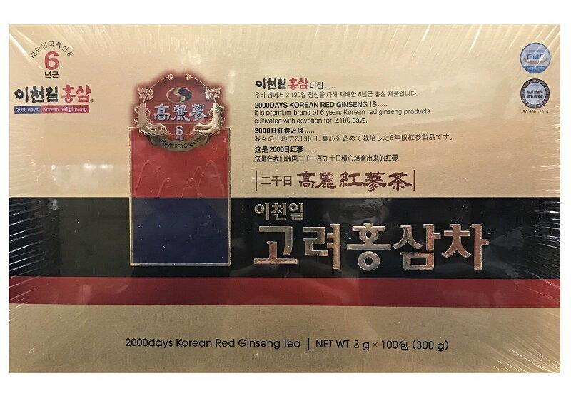 高研六年根韓國高麗紅蔘茶3公克X100包