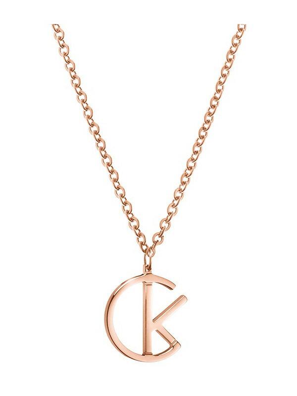 【錶飾精品】CK飾品 KJ6DPP100100-ck logo IP玫瑰金 女性項鍊 白鋼全新原廠正品 生日情人節禮物