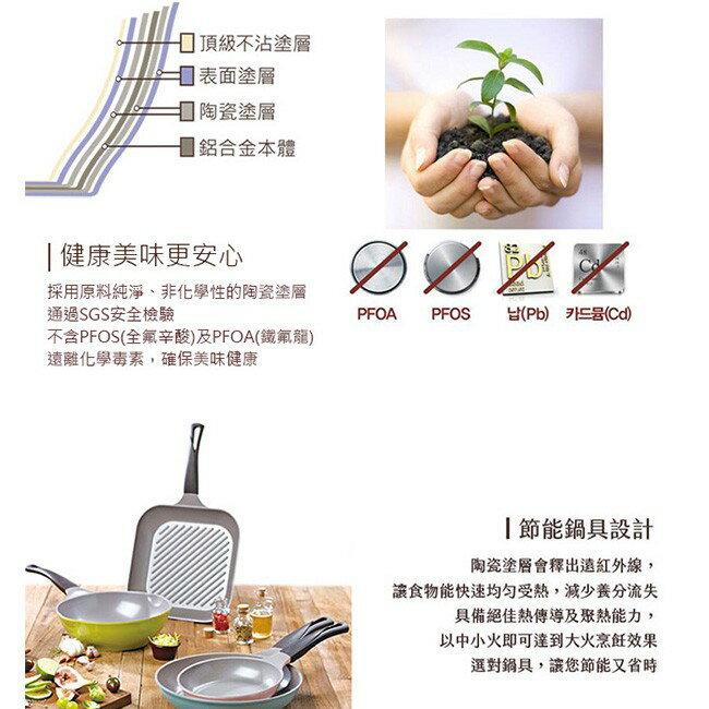 韓國 Chef Topf 薔薇系列28公分不沾方型煎鍋/韓國製造/不沾鍋/洗碗機用/最美鍋/方鍋 2