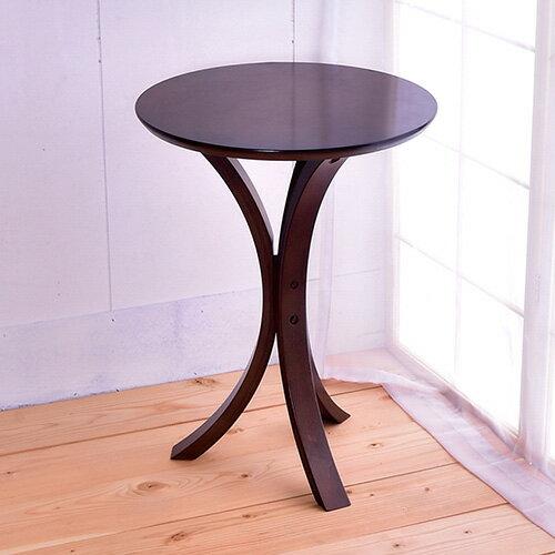 【凱堡】 實木圓型電話架茶几架側桌小桌P15001