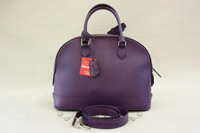 A6618 lv 紫羅蘭色 牛皮 兩用 ALMA PM M48881