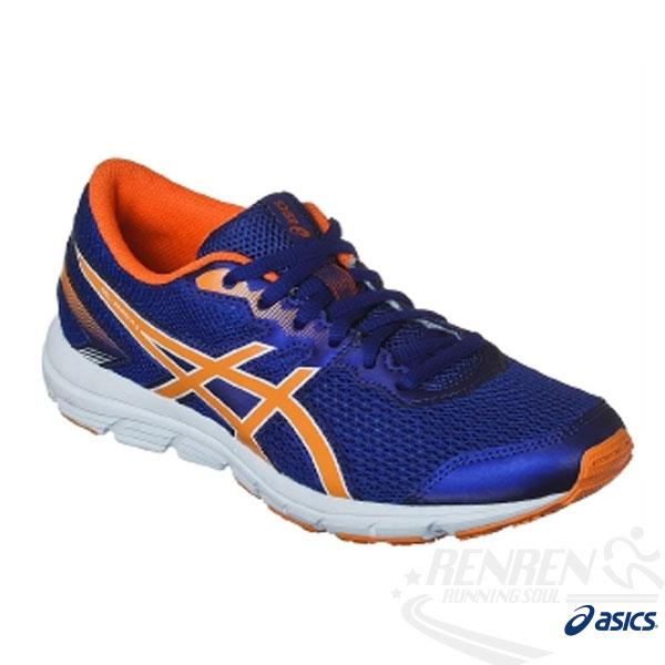 ASICS亞瑟士 兒童慢跑鞋 GEL-ZARACA 5 GS (藍*橘) 兼具舒適性 提供良好的吸震