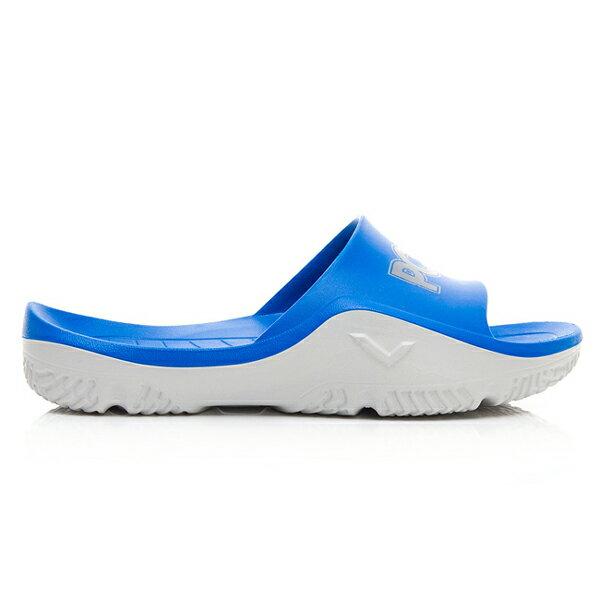《超軟Q防水拖》Shoestw【92U1FL07RB】PONY PARK-X 防水拖鞋 海灘拖鞋 軟Q 拖鞋 寶藍灰 男生尺寸 3