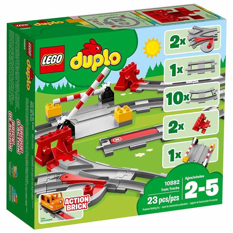 樂高積木 LEGO《 LT10882 》2018年 Duplo 得寶系列 - 列車軌道