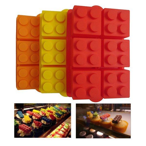 =優生活=食用級矽膠大方型六格樂高積木型冰格 製冰盒 冰格模具 創意冰格 甜點飲料必備冰塊 果凍模 巧克力模 肥皂模 LEGO模型
