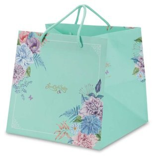 【零售量]手提平放袋8號愛在春天.藍50個