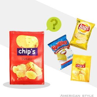 G.W.可愛洋芋片♛零食 手機ipad收納包♛手拿包 餅乾化妝包♛同款costco薯片包♛黃大薯紅中薯 啾GUESSWHAT