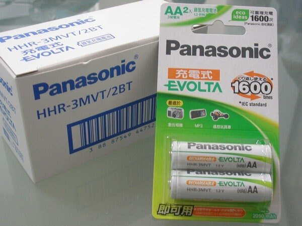 國際牌Panasonic EVOLTA低自放鎳氫充電池3號2個入 一卡入^~定299^~^