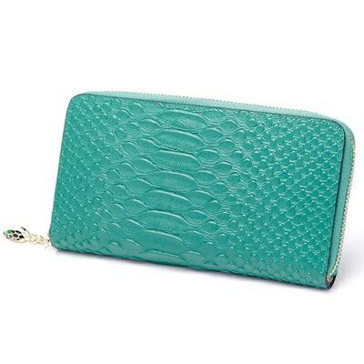皮夾 短夾 蛇紋零錢包~ 純色簡約女包包4色73eb87~義大利 ~~米蘭 ~