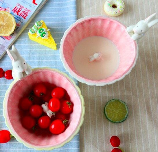 【Peekaboo!躲貓貓遊戲點心碗】小兔子的遊戲時間 水果碗 牛奶碗 沙拉碗 甜點碗 可愛創意兔子造型設計杯子 趣味生活 兒童餐具
