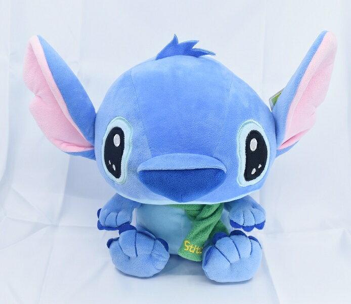 X射線【C050162】史迪奇stitch 11吋圍巾玩偶,絨毛/填充玩偶/玩具/公仔/抱枕/靠枕/娃娃
