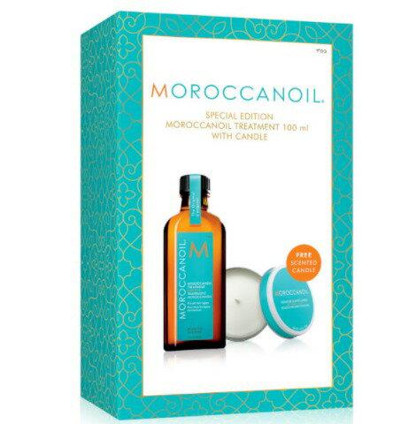 ★超葳★MOROCCANOIL 摩洛哥優油 禮盒組 護髮油 一般型 125ml+ 優油香氛蠟燭75ml(公司貨割除QR碼)