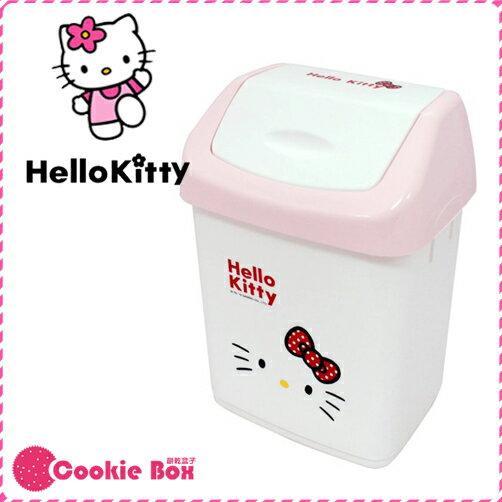 *餅乾盒子* 正版 授權 HELLO KITTY 中型 垃圾桶 回收桶 凱蒂貓 塑膠 可愛 造型 掀筒 附蓋 三麗鷗