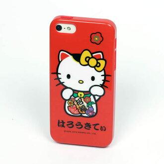 Hello Kitty招福開運貓iPhone5/5s保護殼(附耳機孔塞)_亞迪