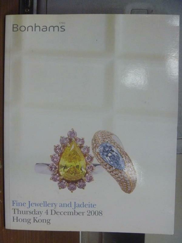 【書寶二手書T8/收藏_PFY】Bonhams_Fine jewellery and jaddite_2008/12/4