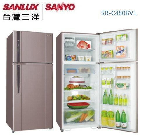 KABO佳麗寶家電批發:【佳麗寶】-(台灣三洋SANLUX)480L雙門變頻冰箱SR-C480BV1