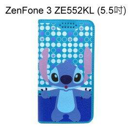 迪士尼彩繪皮套 [普普史迪奇] ASUS ZenFone 3 ZE552KL (5.5吋)【Disney正版授權】