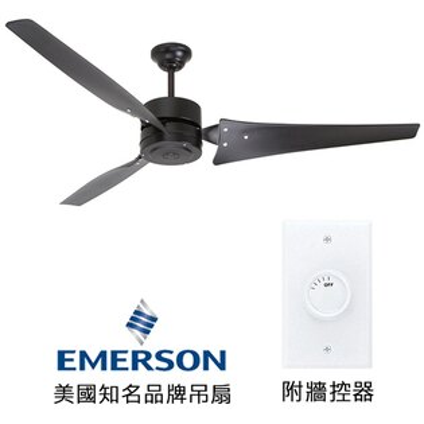 "[topfan]Emerson60""IndustrialFans60英吋吊扇(HF1160BQ)黑色適用於5-7坪房間(適用於110V電壓)"