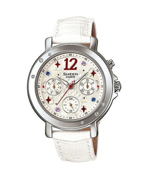 CASIO SHEEN SHE-3033L-7A2華麗時尚腕錶/淡金色37mm