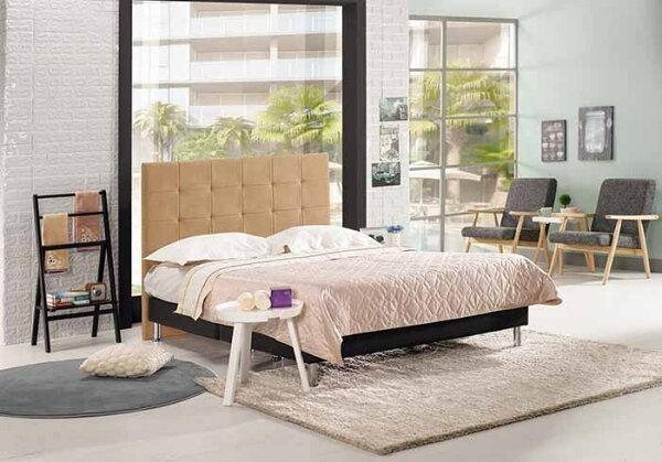 【尚品傢俱】CM-163-2維娜5尺雙人床(米黃色布,另有六尺)